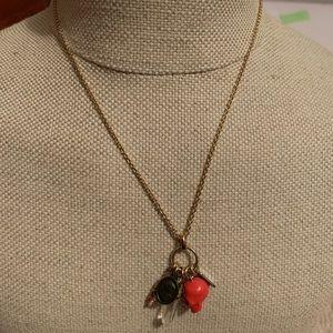 Coach charm necklace